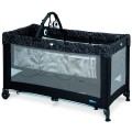 bebedue-travel cot looping black